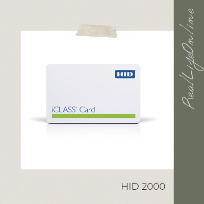 Смарт-карта HID iClass ISO Contactless Smart Cards, 2000
